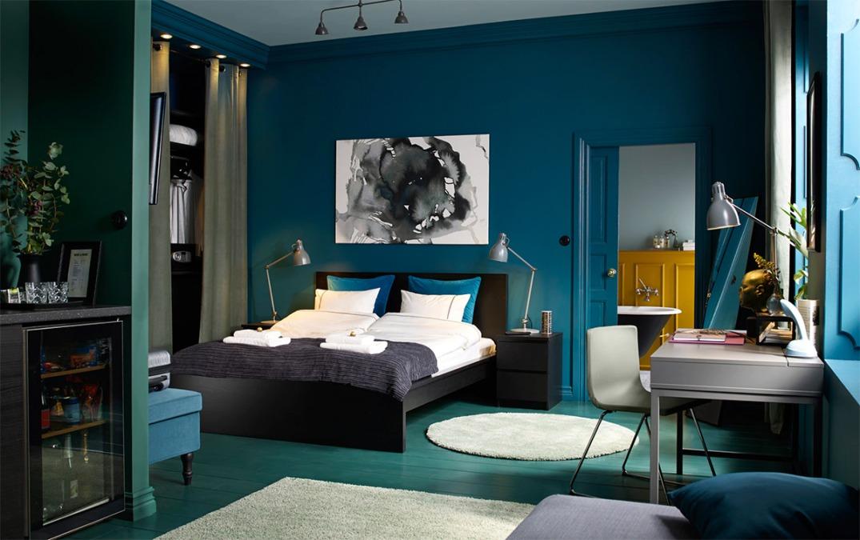 Come arredare la camera da letto con il colore blu ...